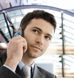 Businessman calling on phone Stock Image
