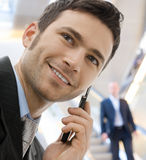 Businessman calling on phone Stock Photos