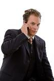 Businessman calling on phone Royalty Free Stock Photo