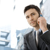 Businessman calling on phone Royalty Free Stock Photography