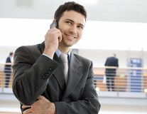 Businessman calling on phone Stock Photography