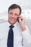 Businessman calling Stock Images