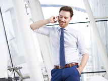 Businessman calling Royalty Free Stock Photos
