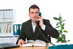 Businessman is calling Royalty Free Stock Photography