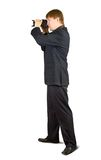 Businessman with camera Stock Image