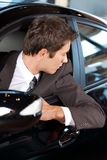 Businessman in car Stock Photography