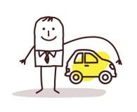 Businessman and car insurance stock illustration