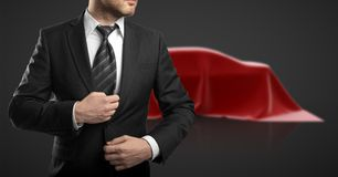 Businessman and car presentation Royalty Free Stock Photos