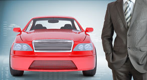 Businessman with car Royalty Free Stock Photography