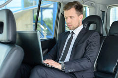 Businessman In The Car Royalty Free Stock Photos