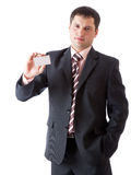 Businessman with card Royalty Free Stock Photos