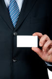 Businessman with card Stock Photos