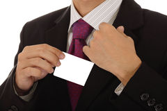 Businessman with card Royalty Free Stock Photo
