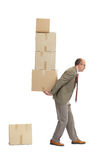 Businessman and a cardboard boxs Stock Image