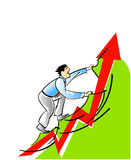 Businessman and career growth Royalty Free Stock Images