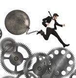 Businessman career with impediment Stock Photos