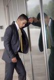 Businessman career problems Stock Image