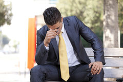 Businessman career problems Stock Photo