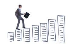 The businessman in career progress concept Stock Photos