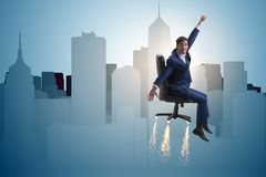 The businessman in career progression concept Royalty Free Stock Photos