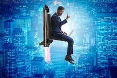 The businessman in career progression concept Royalty Free Stock Images