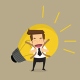 Businessman carry idea Royalty Free Stock Photography