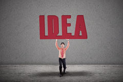 Businessman carry idea Royalty Free Stock Image