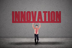 Businessman carry innovation Royalty Free Stock Photography