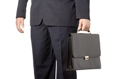 Businessman carrying a case Stock Image