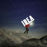 Businessman carrying idea Royalty Free Stock Image