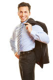 Businessman carrying jacket Royalty Free Stock Image