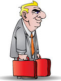 Businessman carrying a suitcase Royalty Free Stock Images