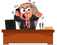 Boss Man Angry on Phone Royalty Free Stock Photo