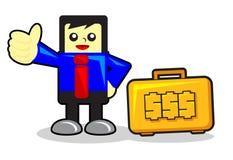 Businessman cartoon character Stock Photo