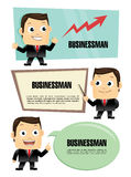 Businessman cartoon character Royalty Free Stock Image