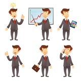 Businessman cartoon character Royalty Free Stock Photos