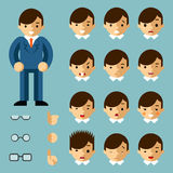 Businessman cartoon emotions Stock Image