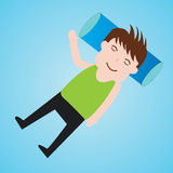 Businessman cartoon fun sleeping Vector illustration Stock Image
