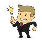 Businessman having idea Stock Photo