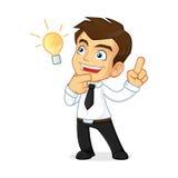 Businessman having idea Stock Image