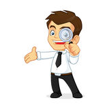 Businessman holding magnifying glass  Stock Photography