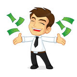 Businessman throwing money  Royalty Free Stock Images