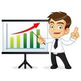 Businessman presenting on whiteboard Stock Photos