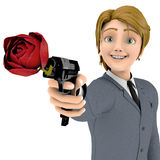 Businessman cartoon in love agent Royalty Free Stock Photo