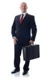 Businessman with case Stock Photos