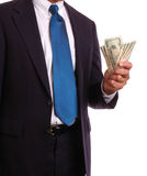 Businessman with cash Royalty Free Stock Images