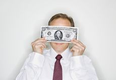 Businessman with cash Royalty Free Stock Photo