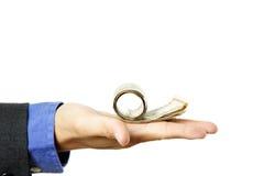 Businessman with cash on hand Stock Photos