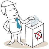 Businessman casting his vote Royalty Free Stock Photography