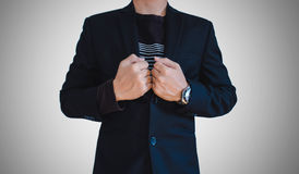 Businessman in casual suit Stock Images